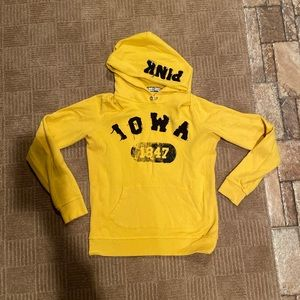 Pink University of Iowa Hawkeye sweatshirt